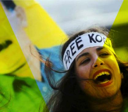 Journée mondiale de soutien à «KOBANÊ» : Manifestation le 1er novembre 2014 à Aokas 198