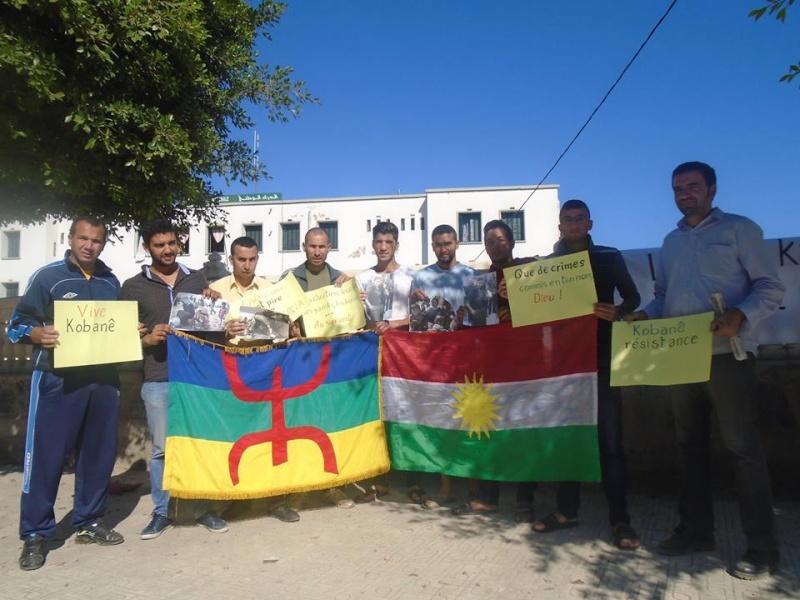 Journée mondiale de soutien à «KOBANÊ» : Manifestation le 1er novembre 2014 à Aokas Kobane10