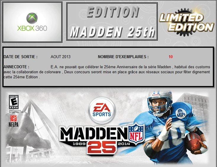 XBOX 360 : Edition MADDEN 25th Madden10