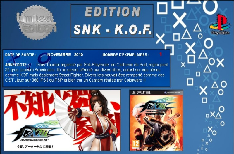 PLAYSTATION 3 : Edition SNK / KOF  Snk_0110