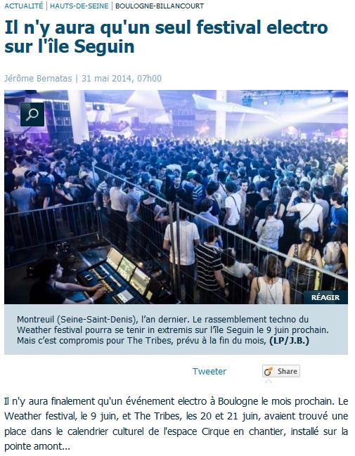 Un festival de musique electro sur l'ile seguin en 2014? Clipbo10