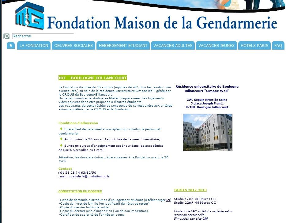 Informations sur la résidence étudiante Simone Weil  Clipbo83