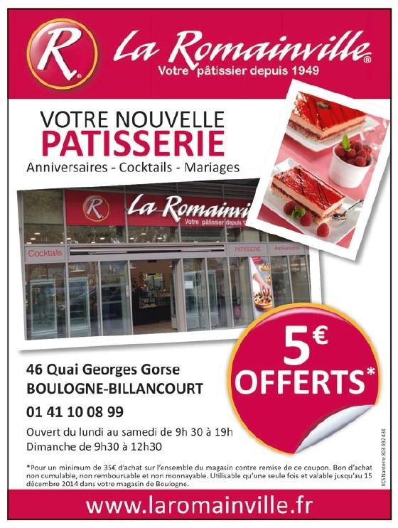 La Romainville fait de la publicité dans le BBI de novembre 2014 (page 20)