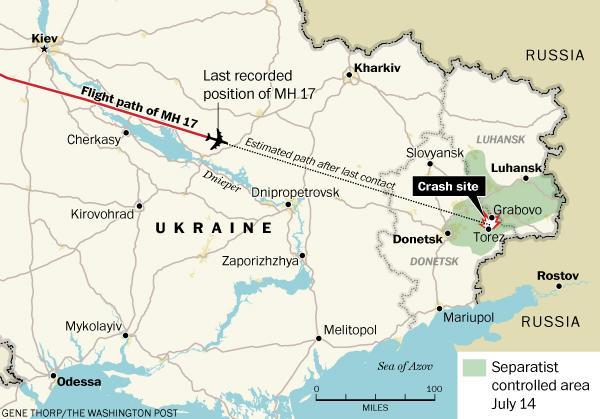 Un Boeing de la Malaysia Airlines abattu dans l'est de l'Ukraine Malays10