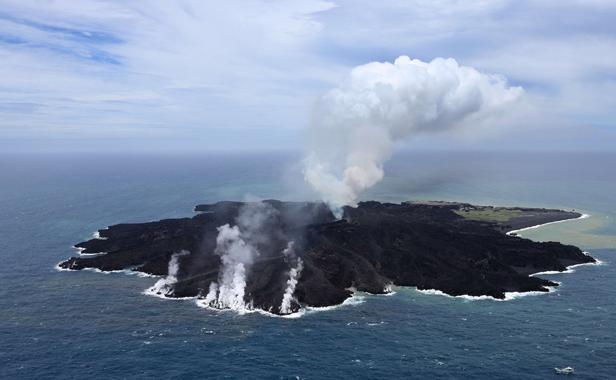 Japon: L'île soudainement apparue au sud de Tokyo continue de grossir  Nouvel10