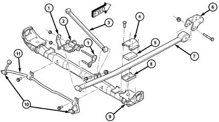 Recherche schéma suspension arrière du Dodge Caravan 2002 Dodge-10
