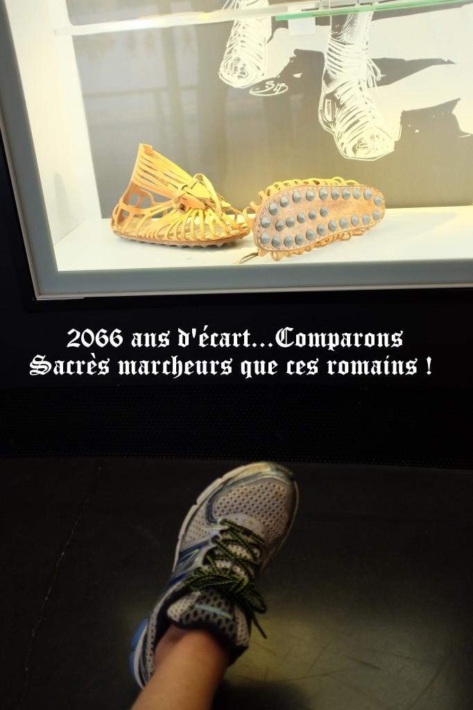 """""""chaussure d hier"""" Rome Alésia 665  lieues en caligae... Dscf1513"""