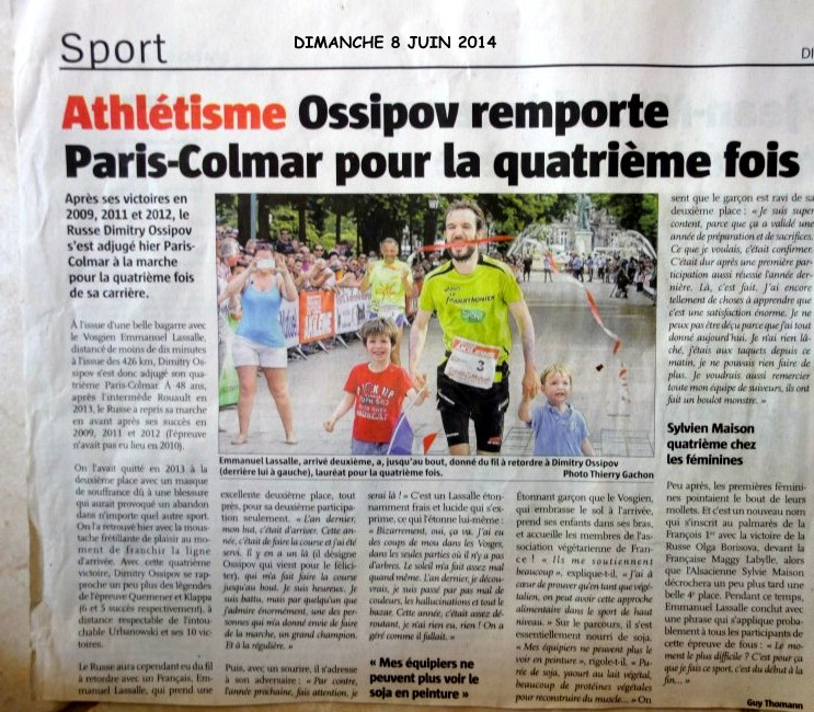 PARIS COLMAR 2014 LES TITRES DE LA PRESSE EN ALSACE Paris_12