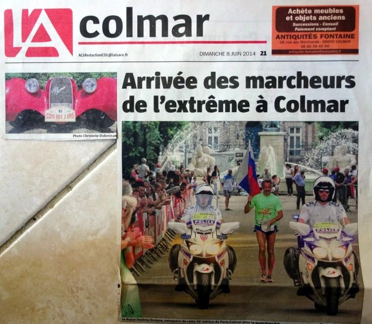 PARIS COLMAR 2014 LES TITRES DE LA PRESSE EN ALSACE Paris_13
