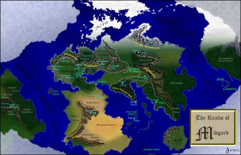Carte du Monde de Monster Hunter Monste10