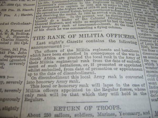 Latest Find - Boer War - The Times of London Times-10