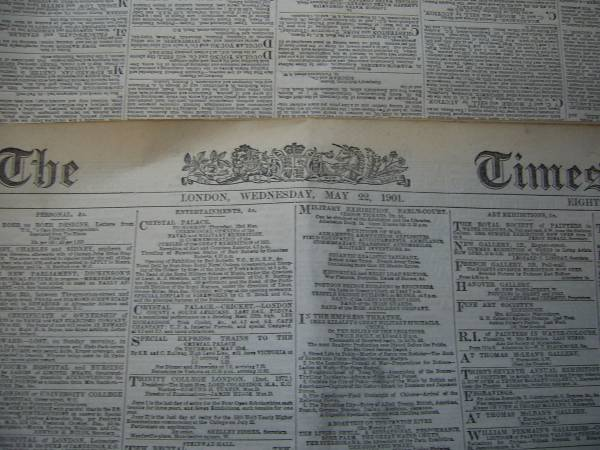 Latest Find - Boer War - The Times of London Times10