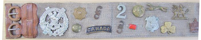 the son of Mrs. Butterworth's served in the 2nd Bn C.E.F. Buckle10