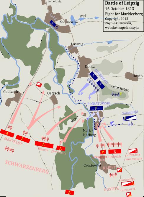 [LDB ] Combat de Markkleeberg du 16 octobre 1813 (Sud Ouest de la Bataille de Leipzig). Map_ka10