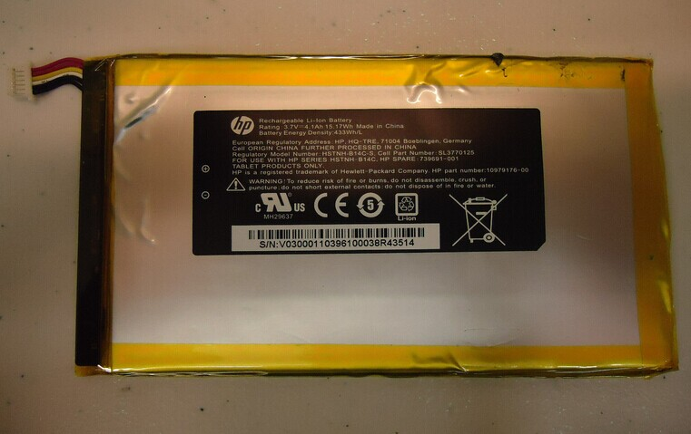 HP 7 1800 Tablet Battery  739691-001 1219
