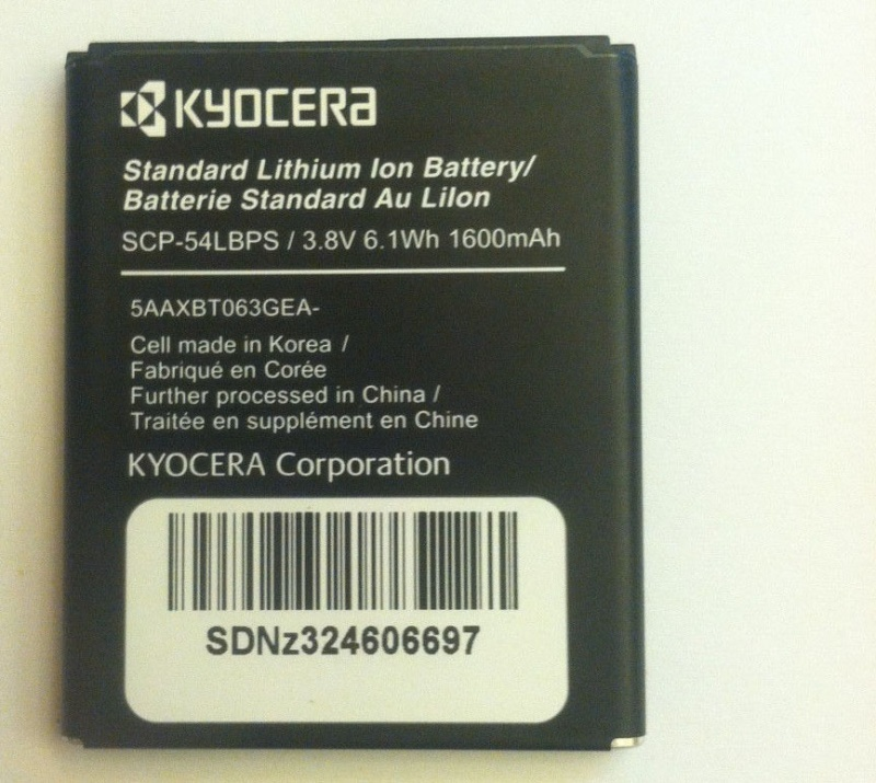 Kyocera Hydro Edge C5215 Battery SCP-54LBPS ML-KY028 Ml-ky012