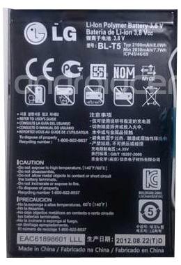 LG Nexus 4 Battery BL-T5 Nexus410