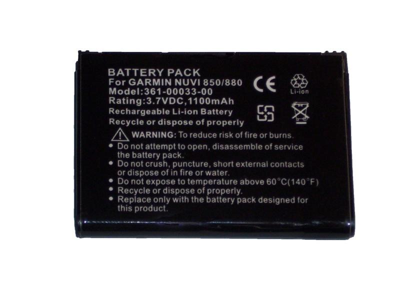 Garmin Nuvi 850 Battery 361-00033-01 PA-G005 Pa-g0010