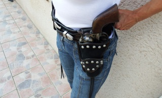 """COWBOY ACTION SHOOTING """"ROUGH OUT"""" HOLSTER by SLYE Dscf0094"""