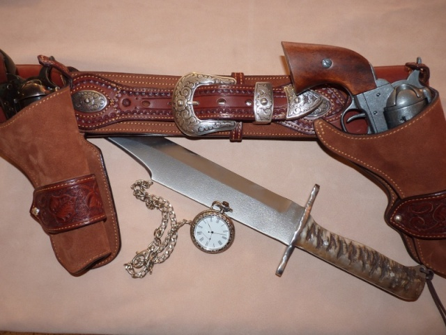 """COWBOY ACTION SHOOTING """"ROUGH OUT"""" HOLSTER by SLYE Ensemb10"""