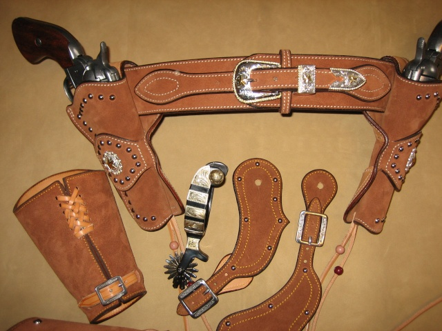 """COWBOY ACTION SHOOTING """"ROUGH OUT"""" HOLSTER by SLYE Fast_d11"""