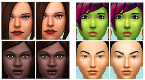 Скинтоны, готовые лица Light181