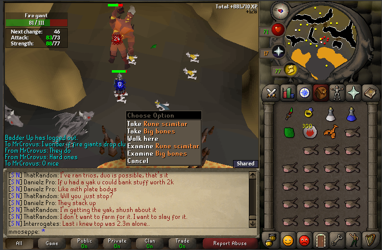 fire giant drop table osrs - 772×506