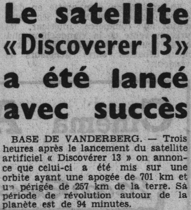 Discoverer 13 - 1ère récupération depuis une orbite 60081210