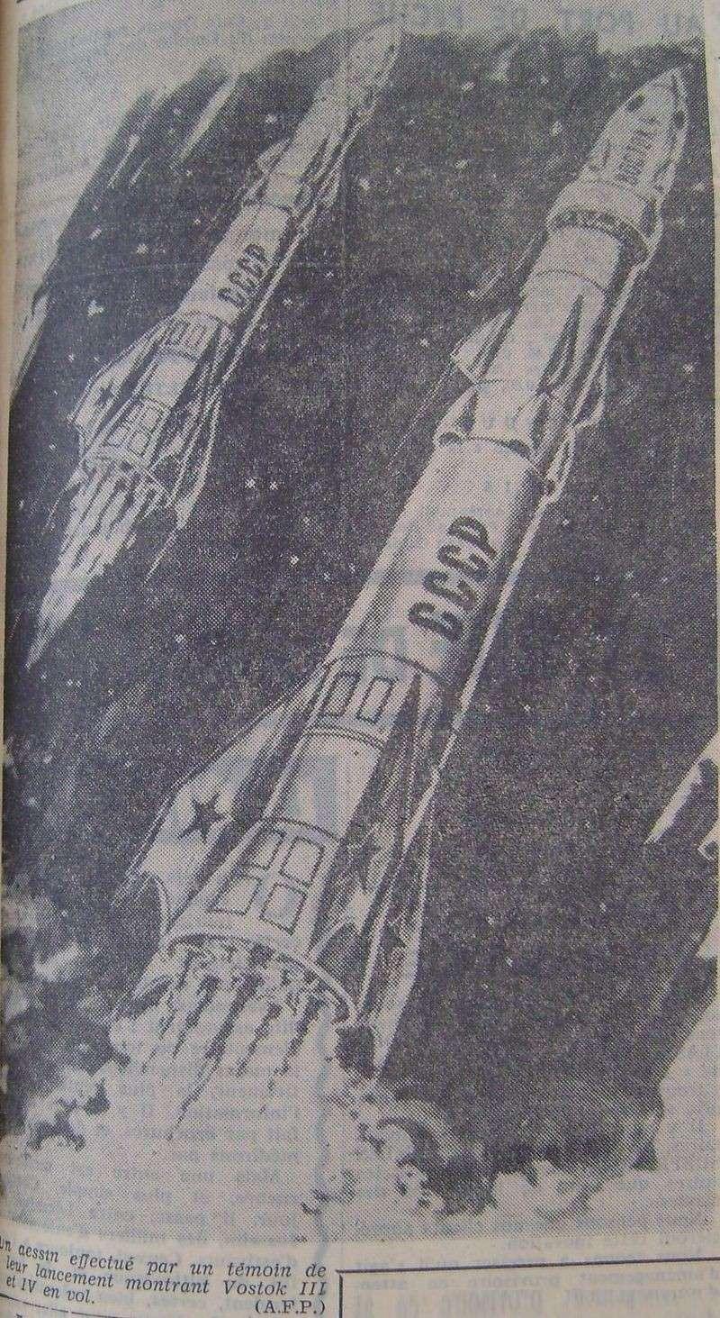 Vostok 3, Vostok 4 - 11, 12 août 1962 - 1ers vols groupés 62081712