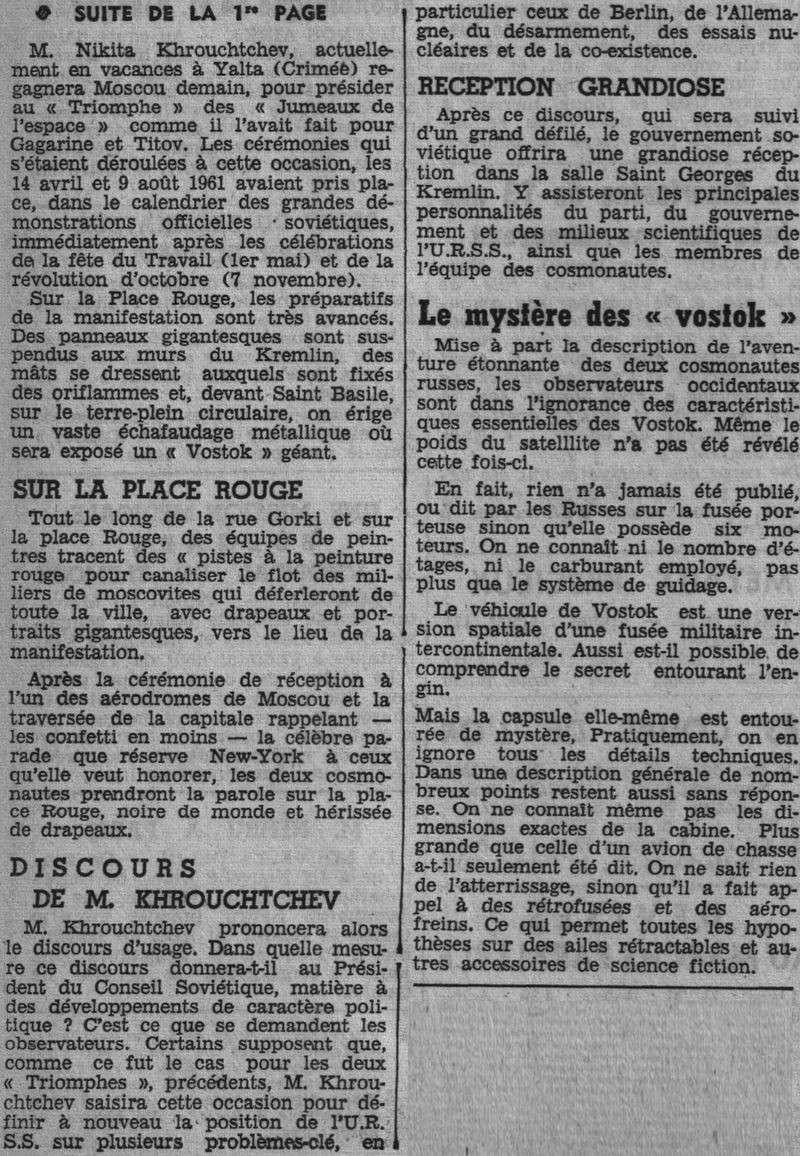 Vostok 3, Vostok 4 - 11, 12 août 1962 - 1ers vols groupés 62081811
