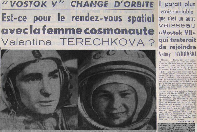 Vostok 5, Vostok 6 - 14, 16 juin 1963 - 1ers vols conjoints 63061810
