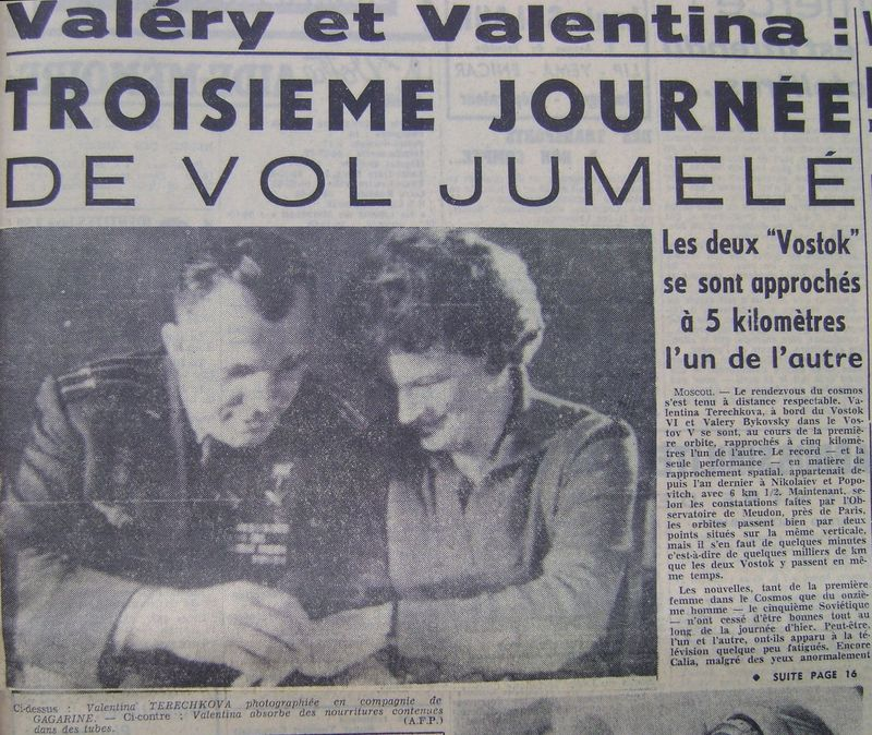 Vostok 5, Vostok 6 - 14, 16 juin 1963 - 1ers vols conjoints 63061910