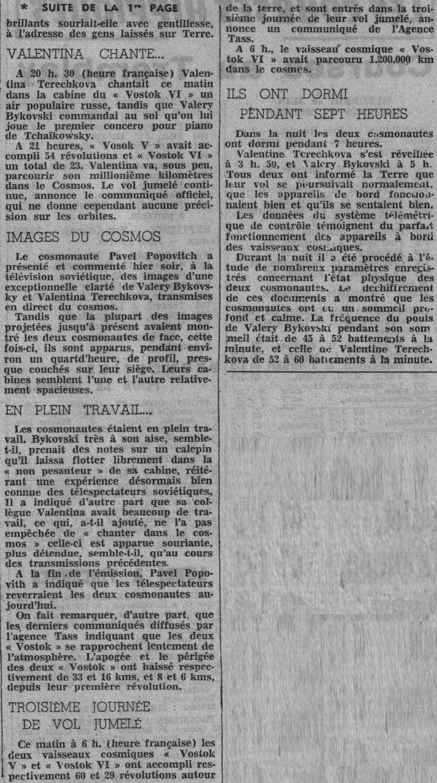 Vostok 5, Vostok 6 - 14, 16 juin 1963 - 1ers vols conjoints 63061912