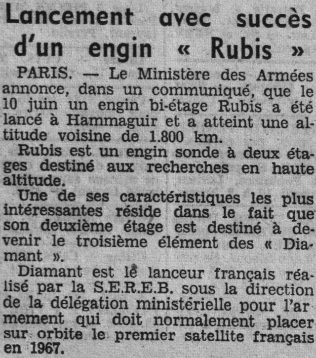 26 novembre 1965 - La France 3ème puissance spatiale 64061510