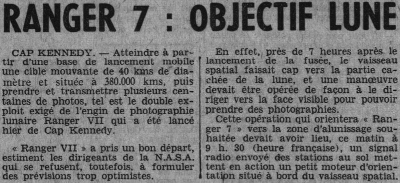 28 juillet 1964 - Ranger VII - 1ères photos rapprochées 64073010