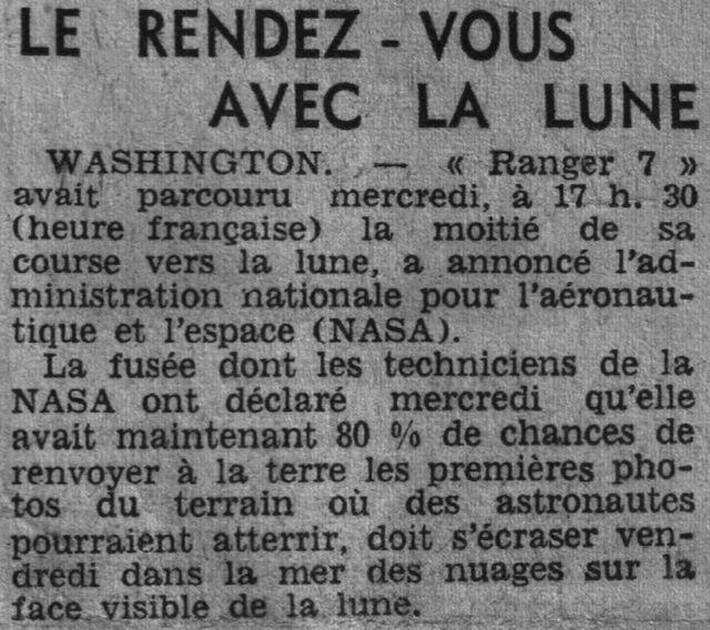 28 juillet 1964 - Ranger VII - 1ères photos rapprochées 64073110