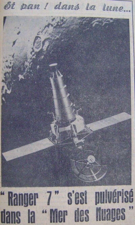 28 juillet 1964 - Ranger VII - 1ères photos rapprochées 64080310