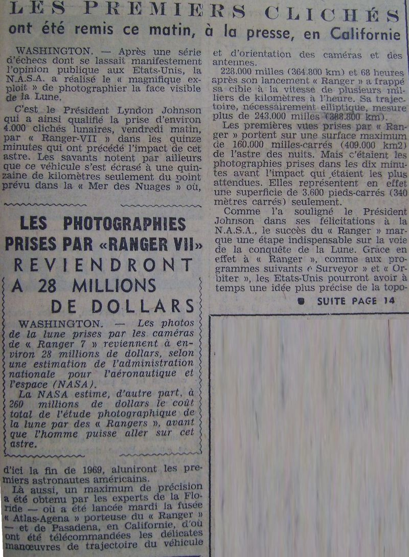 28 juillet 1964 - Ranger VII - 1ères photos rapprochées 64080311
