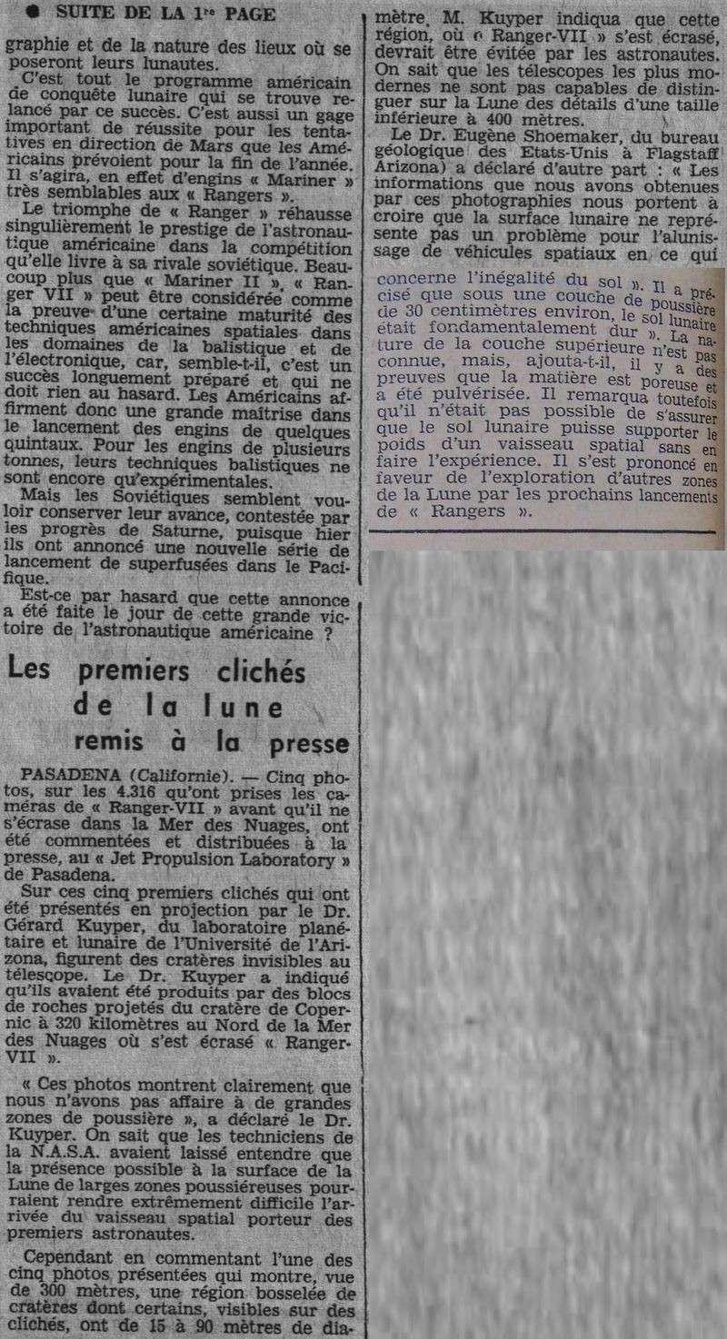 28 juillet 1964 - Ranger VII - 1ères photos rapprochées 64080312