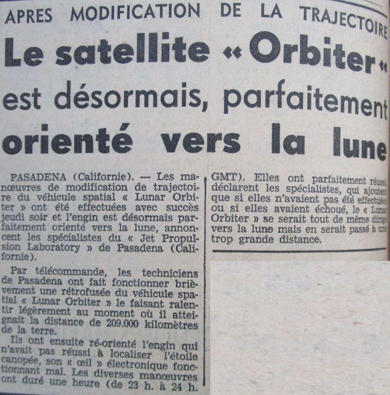 Lunar Orbiter 1 - 1er satellite lunaire américain 66081310