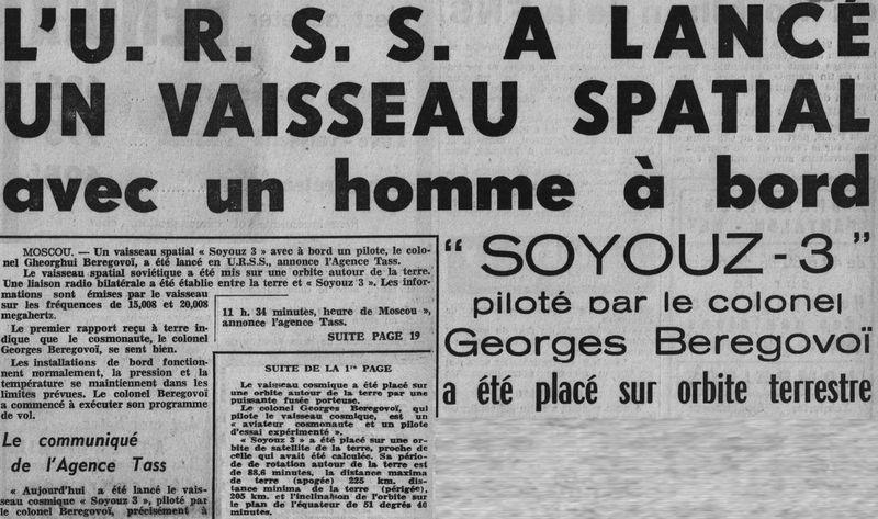 26 octobre 1968 - Soyouz 3 - Gheorghui Beregovoï 68102810