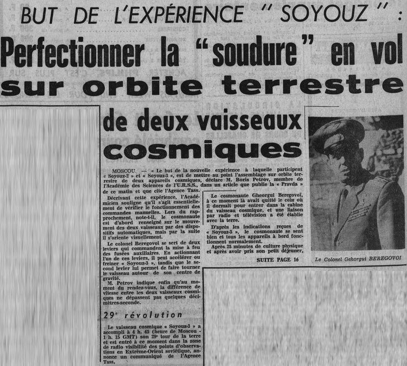 26 octobre 1968 - Soyouz 3 - Gheorghui Beregovoï 68102910