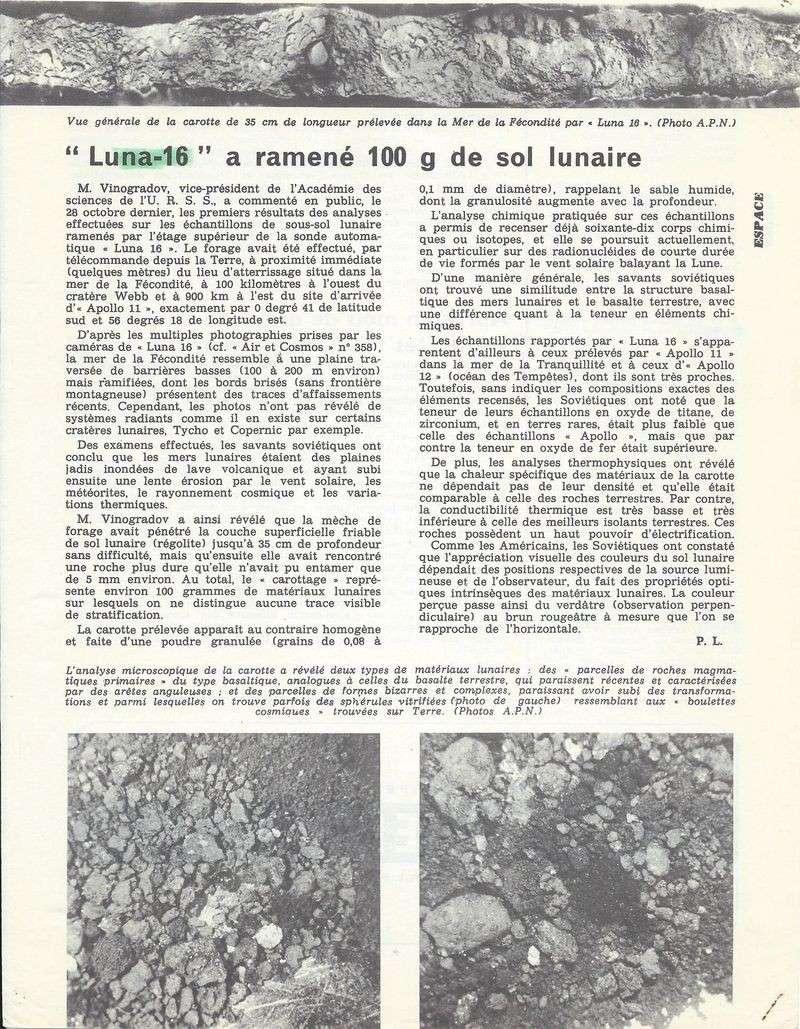 12 septembre 1970 - Luna 16 (trop tard) 70110710