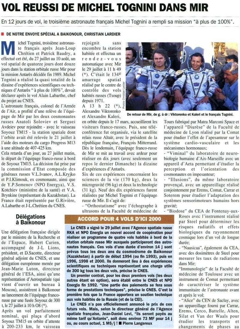 Michel Tognini - 3ème Français dans l'espace 92083110