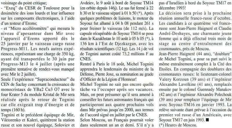 Michel Tognini - 3ème Français dans l'espace 92083111
