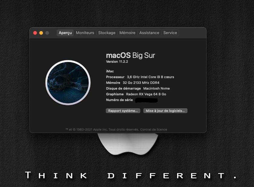 Mise a jour Big Sur 11.2.2 (20D80) Imac10