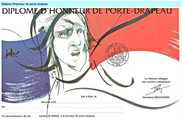 Medaille - Diplome  Porte Drapeaux  Diplom10
