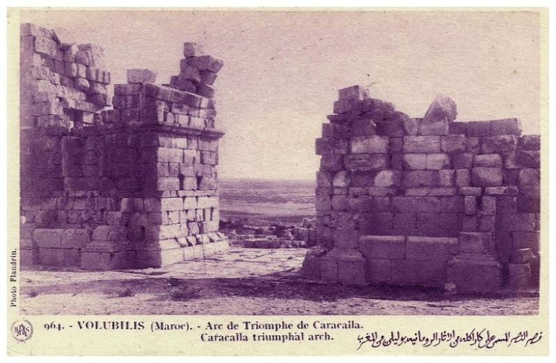 VOLUBILIS : L'ARC DE TRIOMPHE DE CARACALLA A_volu10