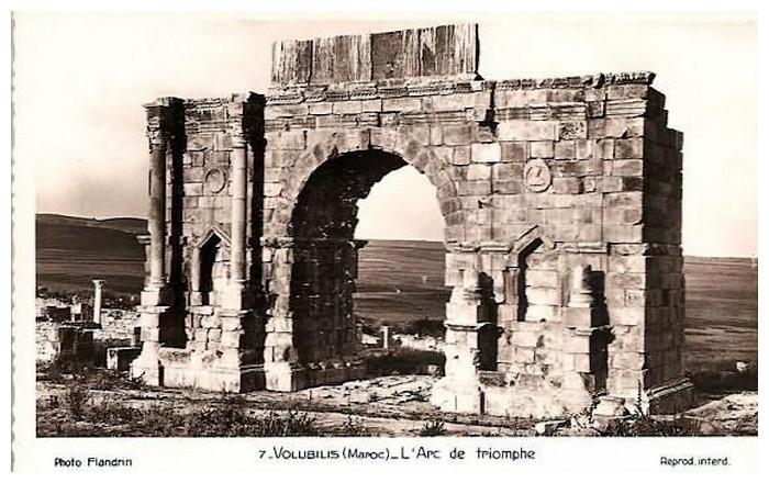 VOLUBILIS : L'ARC DE TRIOMPHE DE CARACALLA Baasca24