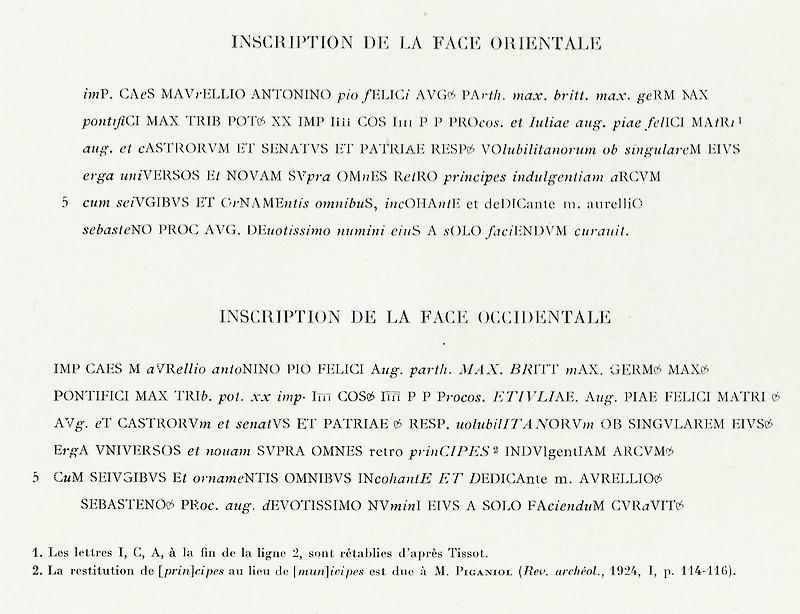 VOLUBILIS : L'ARC DE TRIOMPHE DE CARACALLA Baasca25